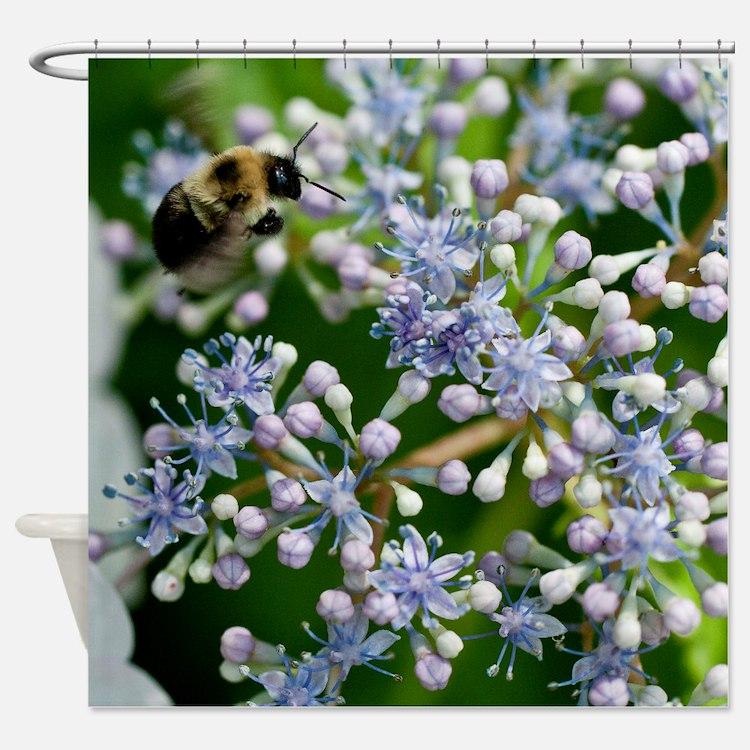 Cute Bee calm Shower Curtain