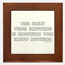 You Know Nothing-Socrates Framed Tile