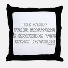 You Know Nothing-Socrates Throw Pillow