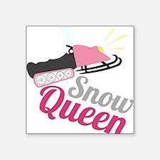 """Snow Queen Square Sticker 3"""" x 3"""""""
