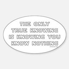 You Know Nothing-Socrates Oval Decal