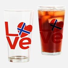 Norwegian Red LOVE Drinking Glass