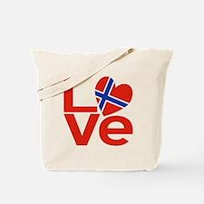 Norwegian Red LOVE Tote Bag