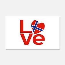 Norwegian Red LOVE Car Magnet 20 x 12