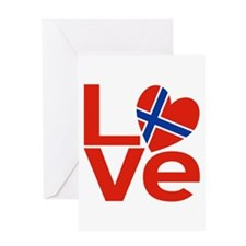 Norwegian Red LOVE Greeting Card