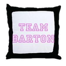 Pink team Barton Throw Pillow