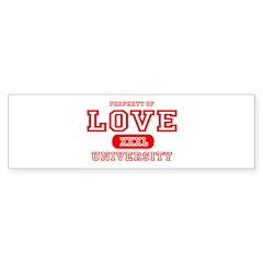 Love University Property Bumper Bumper Sticker