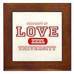 Love University Property Framed Tile