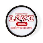 Love University Property Wall Clock