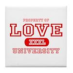 Love University Property Tile Coaster