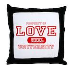 Love University Property Throw Pillow