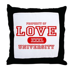 Love University Property Throw Pillow