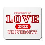 Love University Property Mousepad