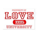 Love University Property Mini Poster Print