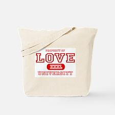 Love University Property Tote Bag