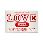 Love University Property Rectangle Magnet