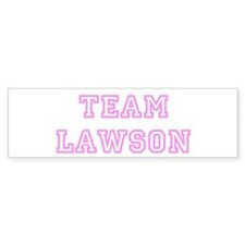 Pink team Lawson Bumper Bumper Sticker
