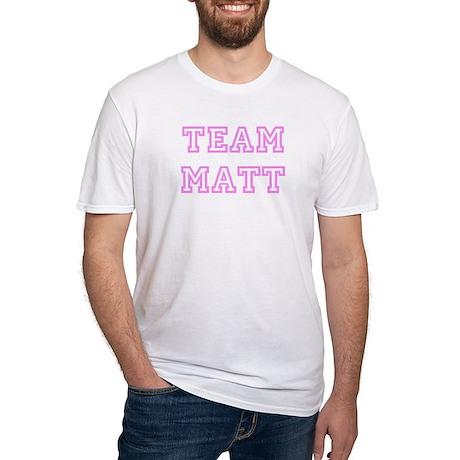 Pink team Matt Fitted T-Shirt