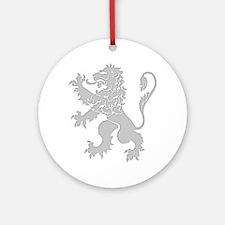 Grey Lion Rampant Ornament (Round)