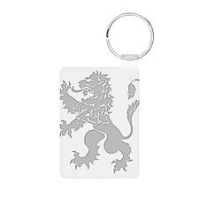 Grey Lion Rampant Keychains