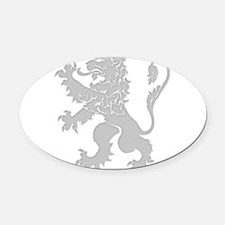 Grey Lion Rampant Oval Car Magnet