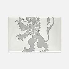 Grey Lion Rampant Rectangle Magnet
