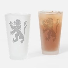 Grey Lion Rampant Drinking Glass