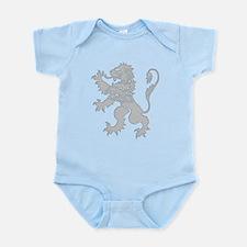 Grey Lion Rampant Infant Bodysuit