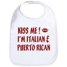 Kiss Me: Italian & Puerto Ric Bib