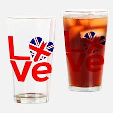 United Kingdom Red LOVE Drinking Glass