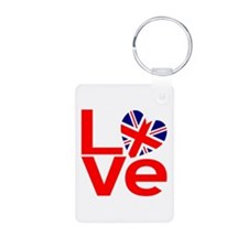 United Kingdom Red LOVE Keychains