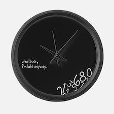 Cute Late Large Wall Clock