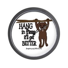HANG IN THERE - DOG Wall Clock