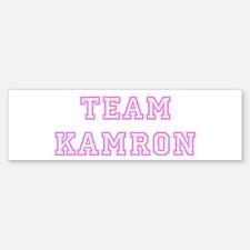 Pink team Kamron Bumper Bumper Bumper Sticker