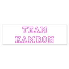 Pink team Kamron Bumper Bumper Sticker