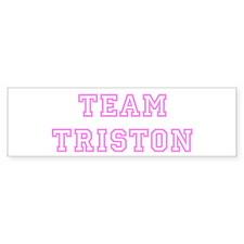 Pink team Triston Bumper Bumper Bumper Sticker