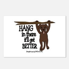 HANG IN THERE - DOG Postcards (Package of 8)