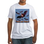 Trick or Treat Seven Bats Fitted T-Shirt