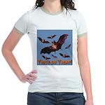 Trick or Treat Seven Bats Jr. Ringer T-Shirt
