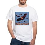 Trick or Treat Seven Bats White T-Shirt
