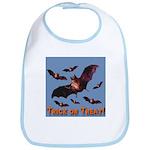 Trick or Treat Seven Bats Bib