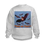 Trick or Treat Seven Bats Kids Sweatshirt