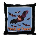 Trick or Treat Seven Bats Throw Pillow