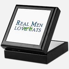 Real Men Love Cats 5 Keepsake Box