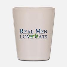Real Men Love Cats 5 Shot Glass