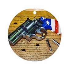 Gun, 2nd Amendment Ornament (Round)