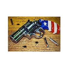 Gun, 2nd Amendment Rectangle Magnet