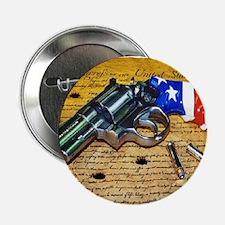 """Gun, 2nd Amendment 2.25"""" Button"""