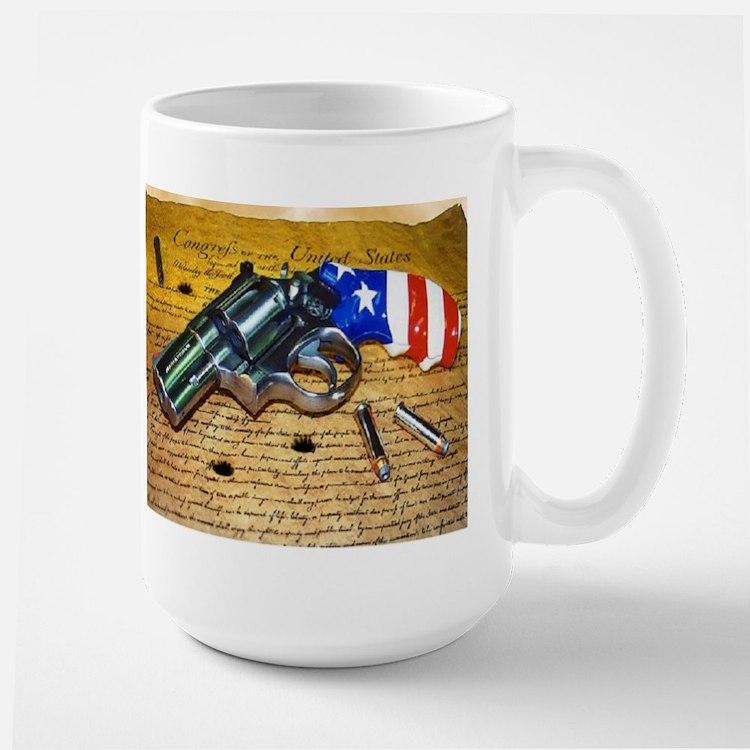 Gun, 2nd Amendment Large Mug