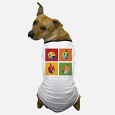Four Dreidels Dog T-Shirt